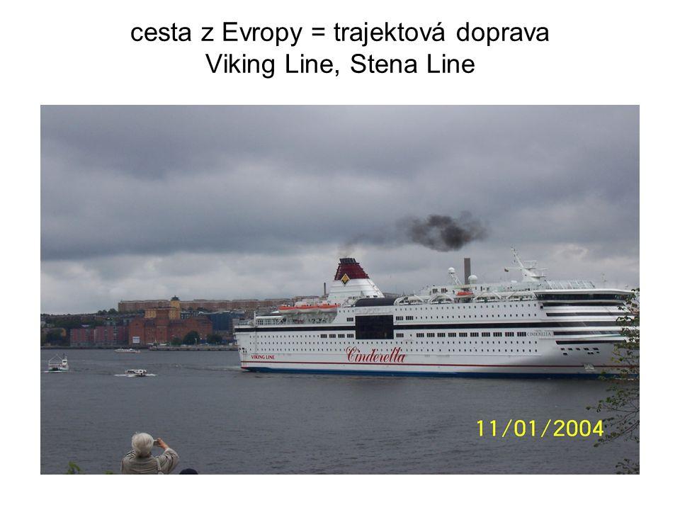 cesta z Evropy = trajektová doprava Viking Line, Stena Line