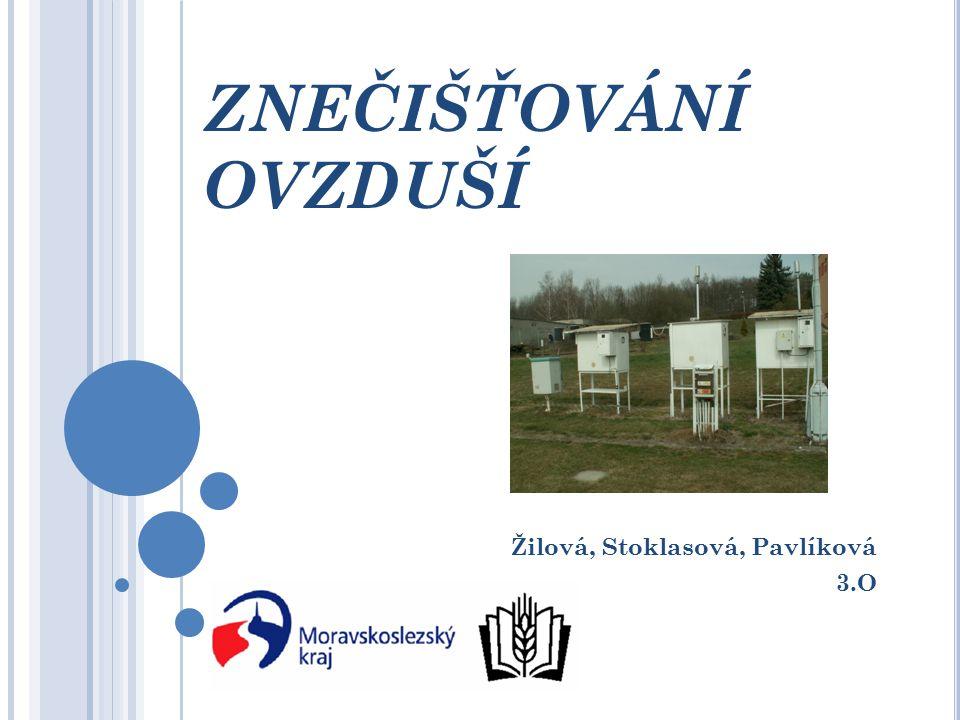 ZNEČIŠŤOVÁNÍ OVZDUŠÍ Žilová, Stoklasová, Pavlíková 3.O