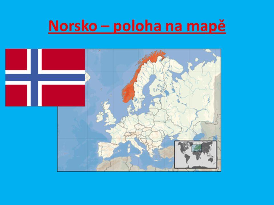 Norsko – poloha na mapě