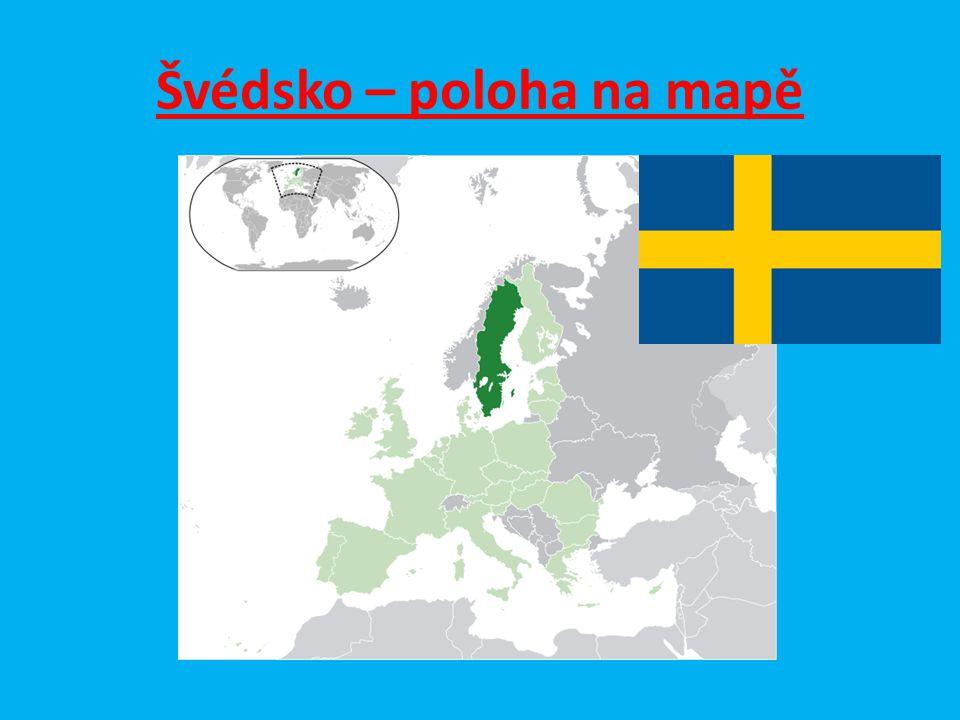 Švédsko – poloha na mapě