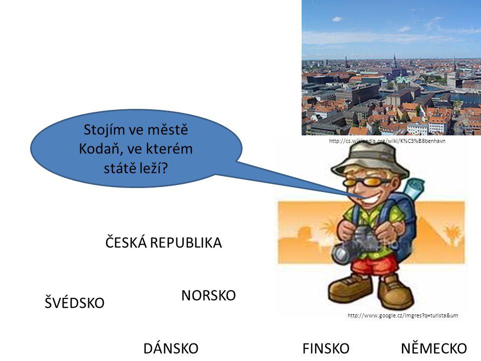 Stojím ve městě Kodaň, ve kterém státě leží.