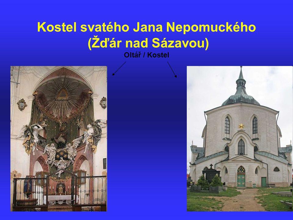Kostel svatého Jana Nepomuckého (Žďár nad Sázavou) Oltář / Kostel