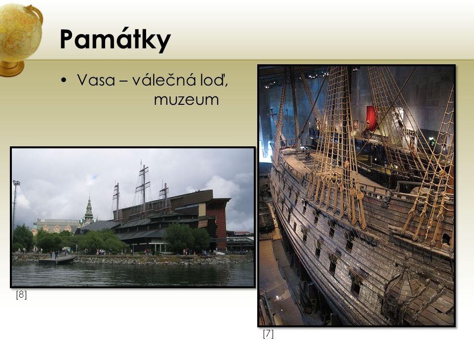 Památky Vasa – válečná loď, muzeum [7][7] [8][8]
