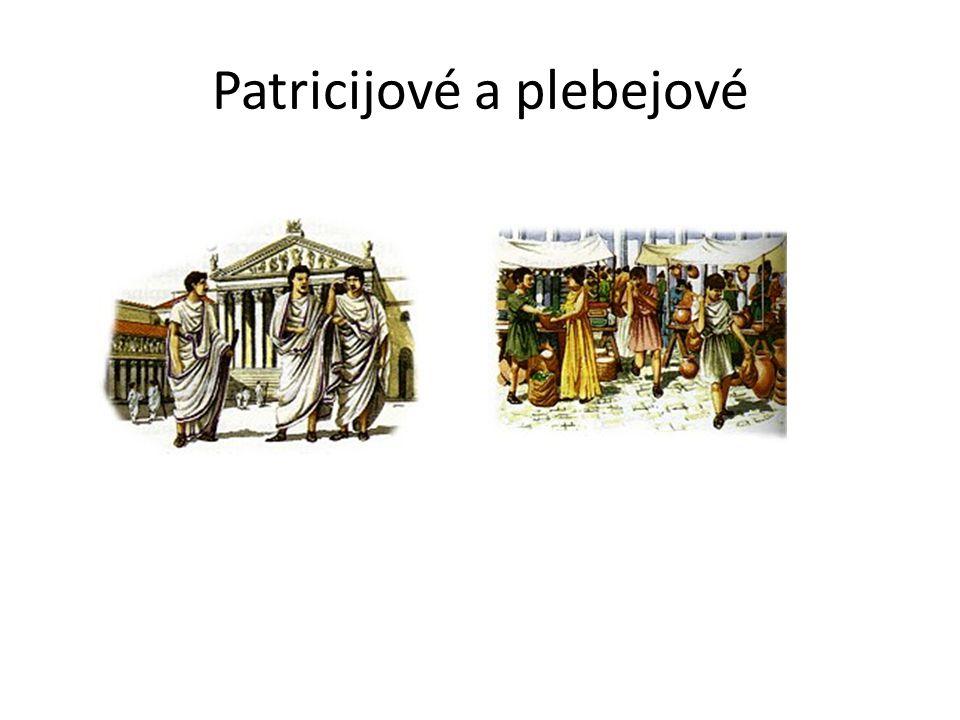Patricijové a plebejové