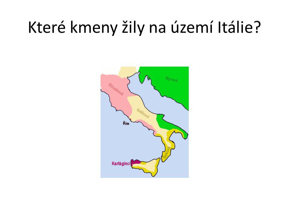 Které kmeny žily na území Itálie?