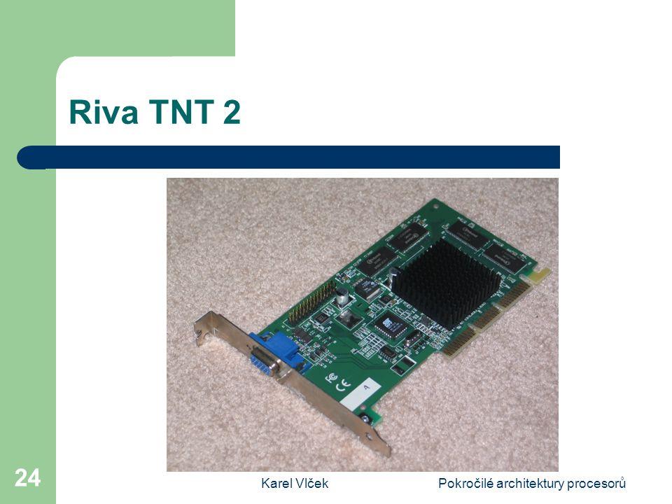 Karel VlčekPokročilé architektury procesorů 24 Riva TNT 2