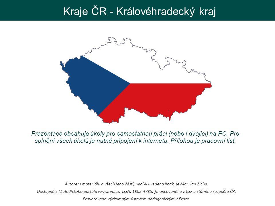 Královéhradecký kraj 2 3 Pojď poznávat krásy Královéhradeckého kraje.