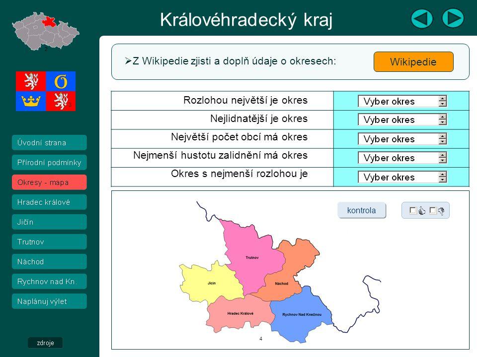 Královéhradecký kraj Hradecko – video  Klikni na odkaz, prohlédni video a výběrem pravdivých vět vytvoř text.
