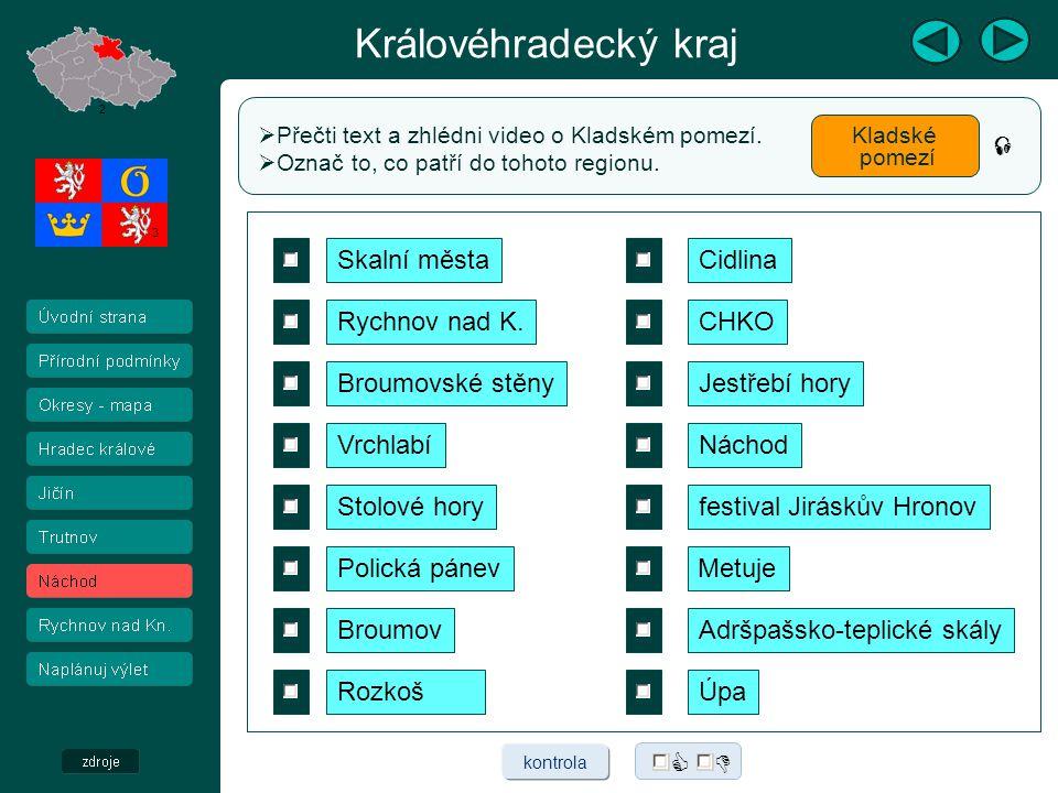 Královéhradecký kraj  Přečti text a zhlédni video o Orlických horách a Podorlicku.