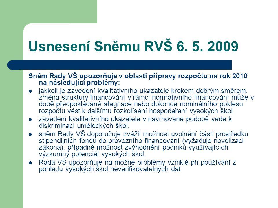Usnesení Sněmu RVŠ 6. 5.