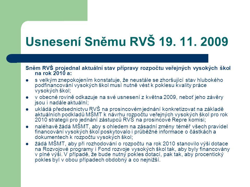 Usnesení Sněmu RVŠ 19. 11.