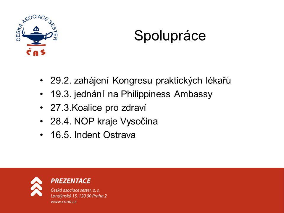 Spolupráce 29.2. zahájení Kongresu praktických lékařů 19.3.
