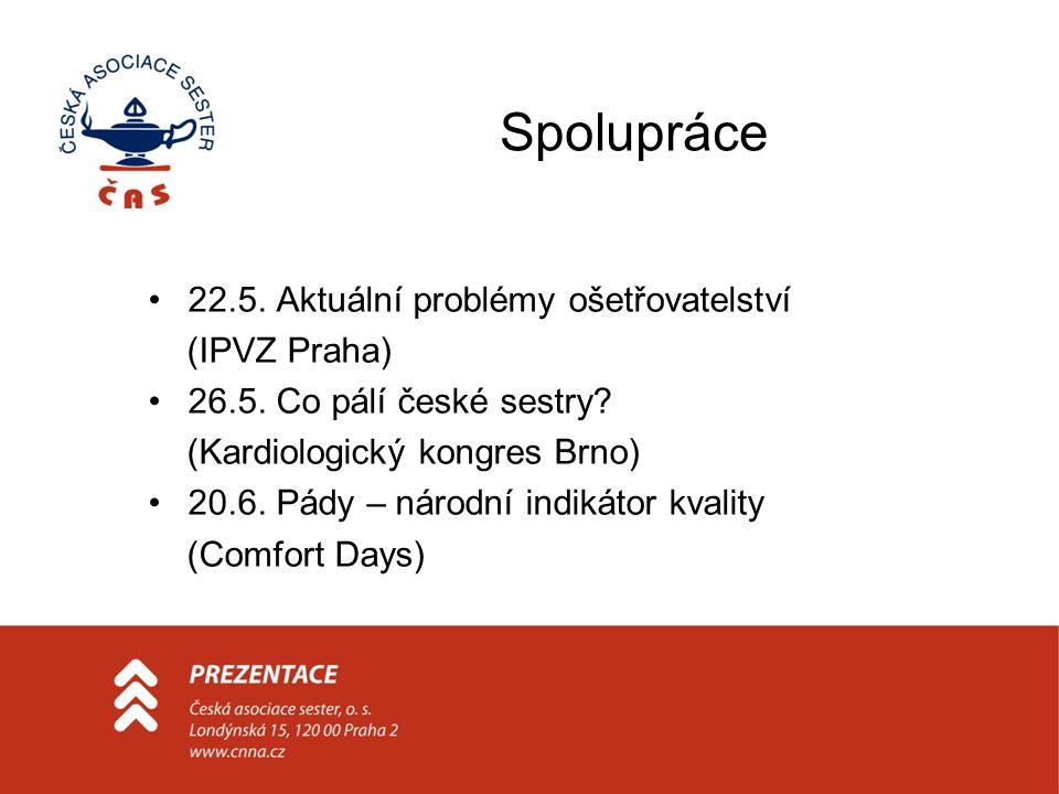 Spolupráce 22.5. Aktuální problémy ošetřovatelství (IPVZ Praha) 26.5.