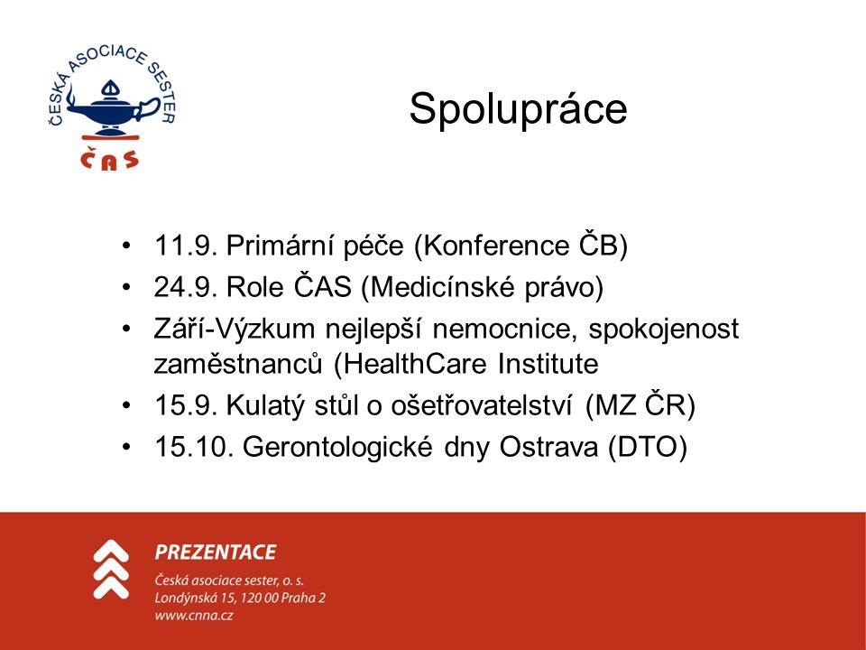 Spolupráce 11.9. Primární péče (Konference ČB) 24.9.