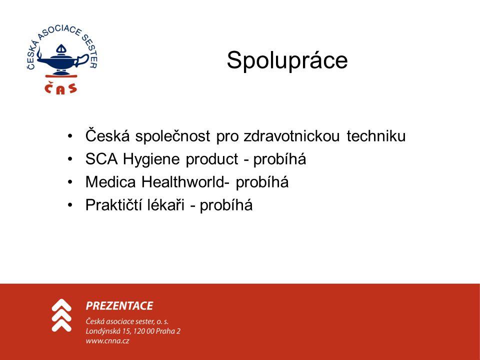Spolupráce Česká společnost pro zdravotnickou techniku SCA Hygiene product - probíhá Medica Healthworld- probíhá Praktičtí lékaři - probíhá