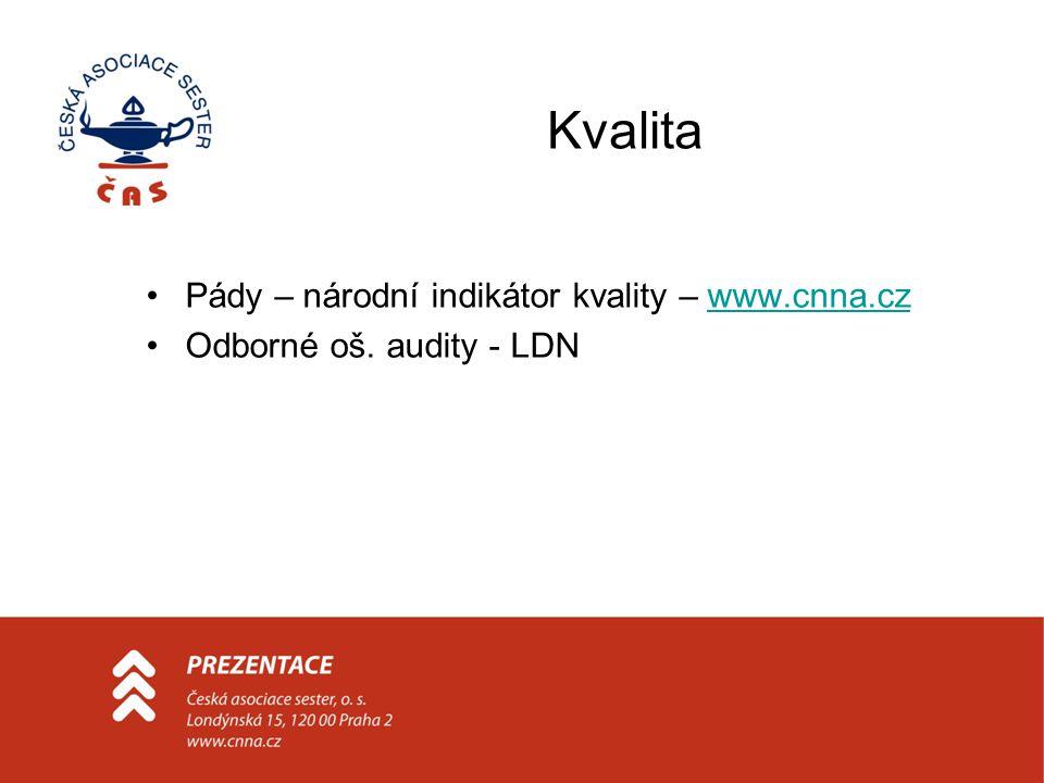 Kvalita Pády – národní indikátor kvality – www.cnna.czwww.cnna.cz Odborné oš. audity - LDN