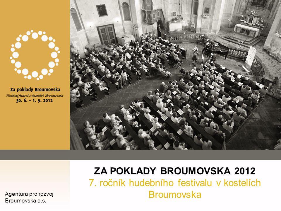 ZA POKLADY BROUMOVSKA 2012 7. ročník hudebního festivalu v kostelích Broumovska Agentura pro rozvoj Broumovska o.s.