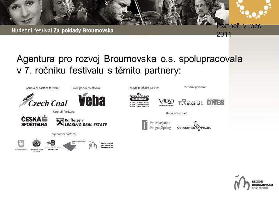 Partneři v roce 2011 Agentura pro rozvoj Broumovska o.s. spolupracovala v 7. ročníku festivalu s těmito partnery: