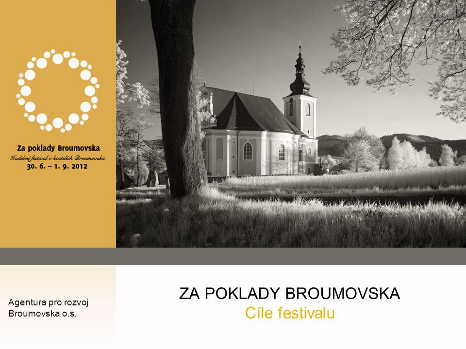 ZA POKLADY BROUMOVSKA Cíle festivalu Agentura pro rozvoj Broumovska o.s.