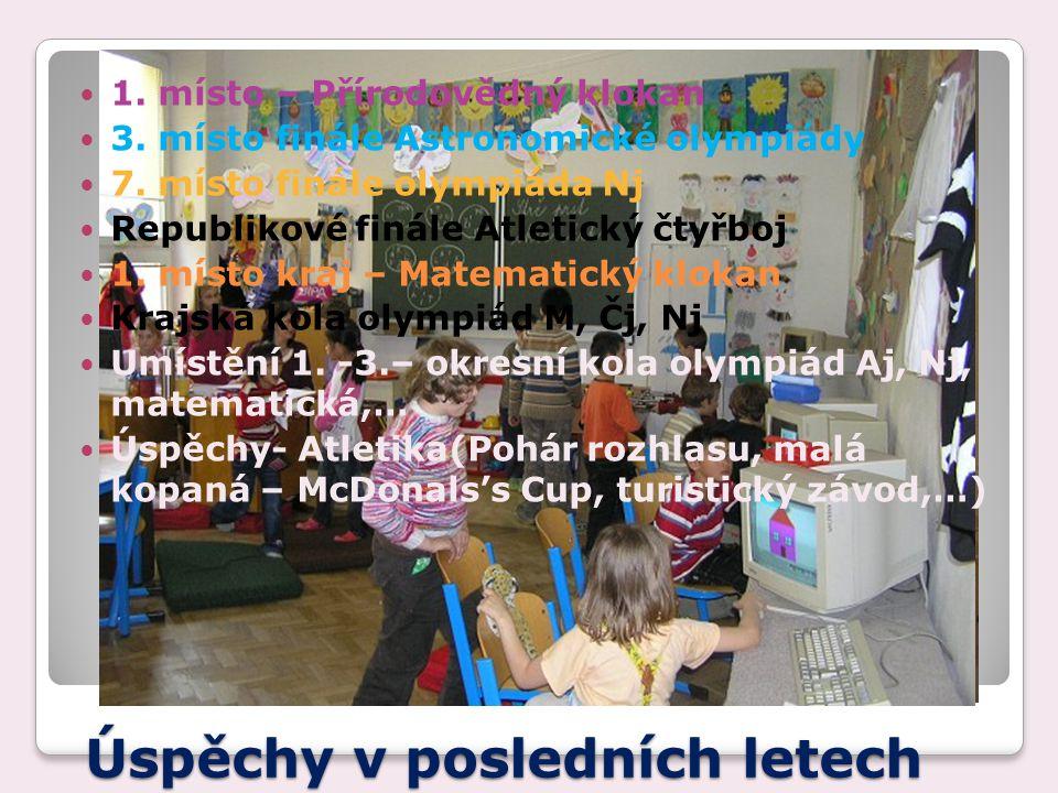 Úspěchy v posledních letech 1.místo – Přírodovědný klokan 3.