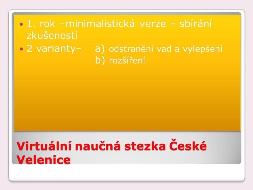 Virtuální naučná stezka České Velenice 1.
