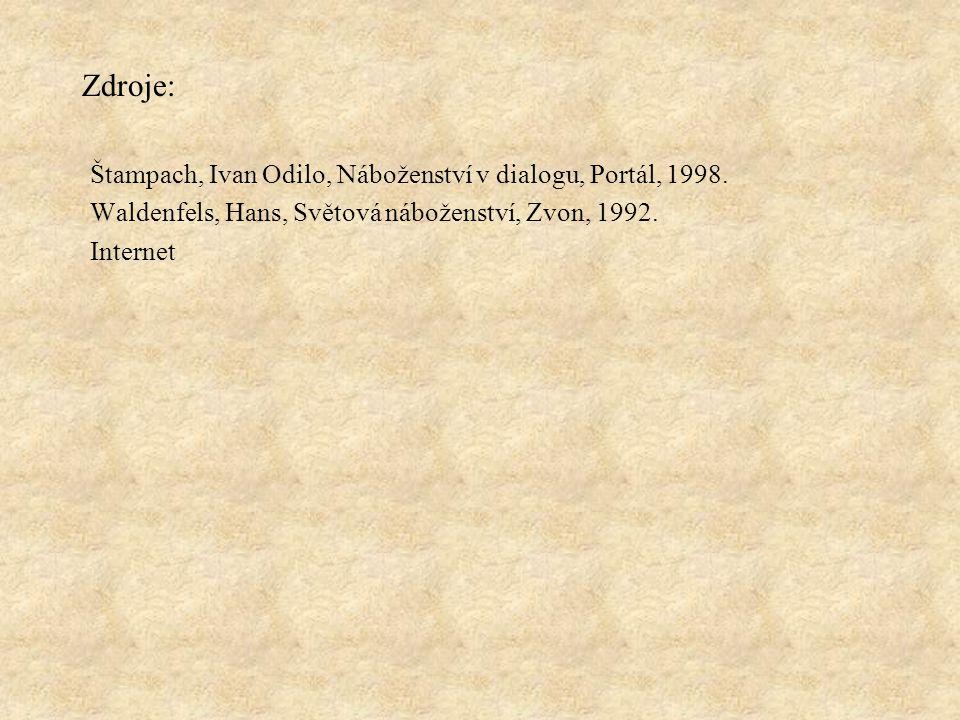 Zdroje: Štampach, Ivan Odilo, Náboženství v dialogu, Portál, 1998.