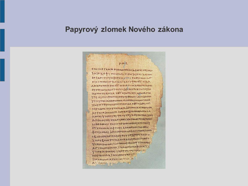 Papyrový zlomek Nového zákona