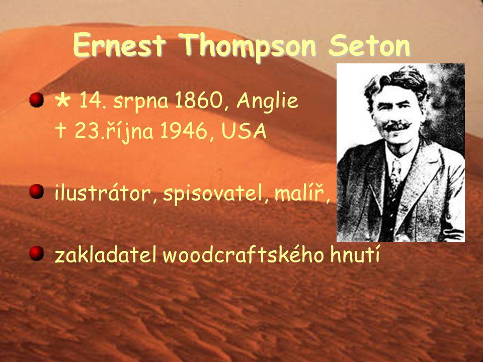 """E. T. Seton """" jako hrdinové z románů malířství Manitoba """"lovec vlků spisovatel"""