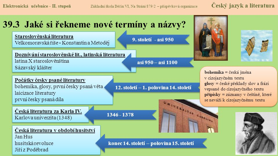 39.3 Jaké si řekneme nové termíny a názvy.Elektronická učebnice - II.