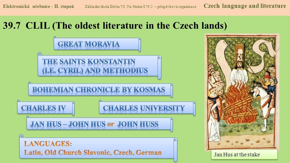 39.7 CLIL (The oldest literature in the Czech lands) Elektronická učebnice - II.