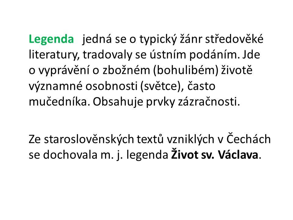 Život svatého Václava první staroslověnská legenda o sv.