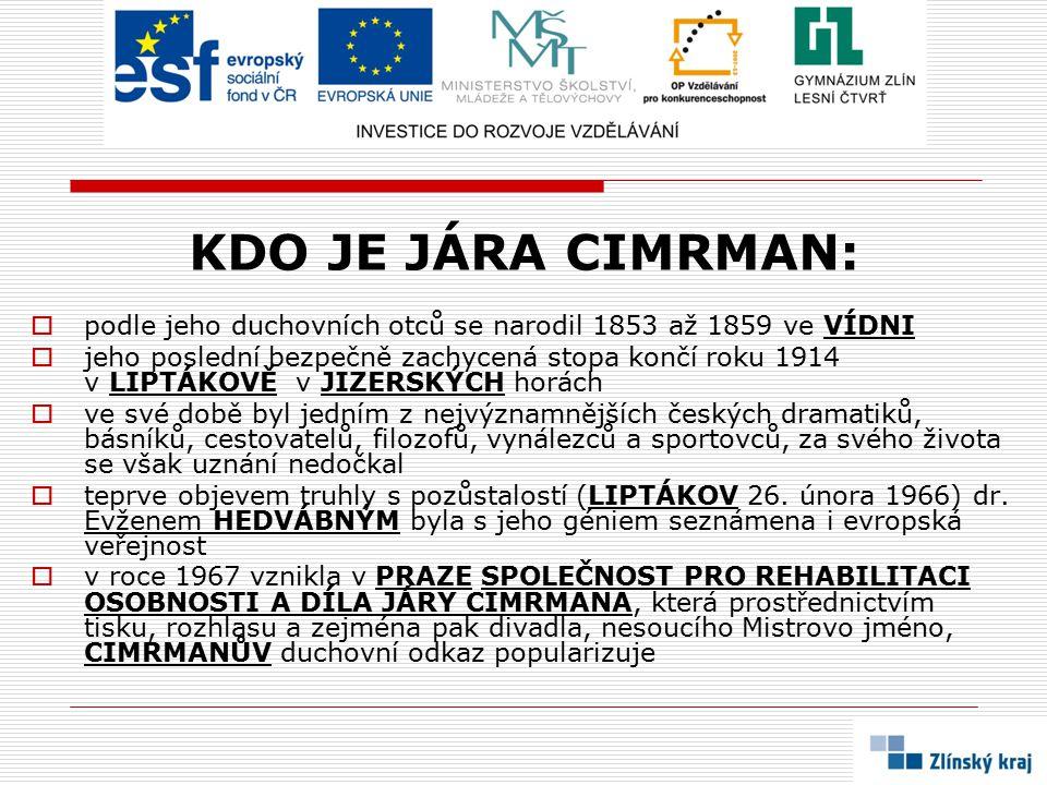 SÍDLO DIVADLA:  DIVADLO JÁRY CIMRMANA sídlí na pražském ŽIŽKOVĚ 3]