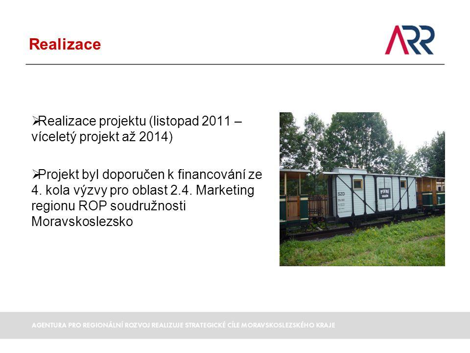 Realizace  Realizace projektu (listopad 2011 – víceletý projekt až 2014)  Projekt byl doporučen k financování ze 4.