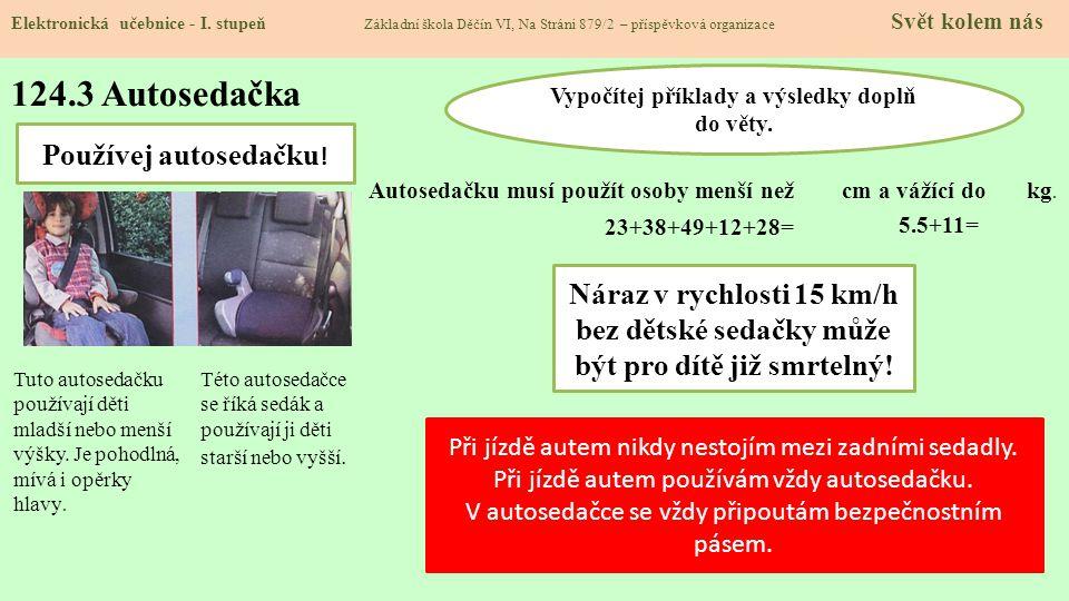 124.4 Bezpečnostní pásy Elektronická učebnice - I.
