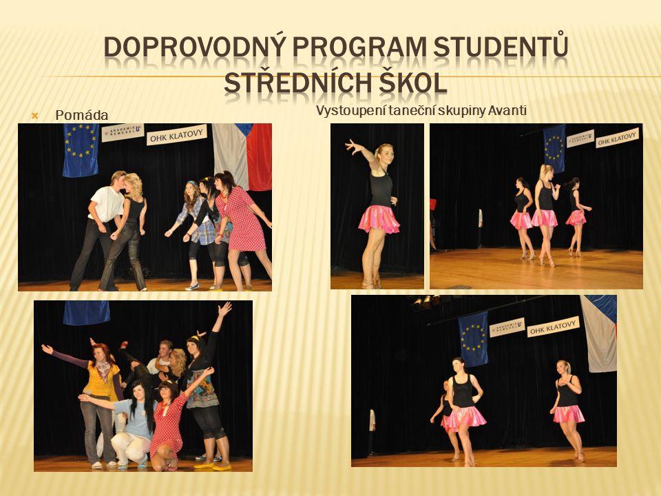  Pomáda Vystoupení taneční skupiny Avanti