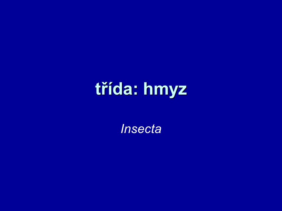 hmyz největší a nejrozmanitější skupina význam –opylovači, potraviny, suroviny –čištění –humusotvorní činitelé –součást potravního řetězce –škůdci a cizopasníci –přenos chorob, znehodnocení potravin