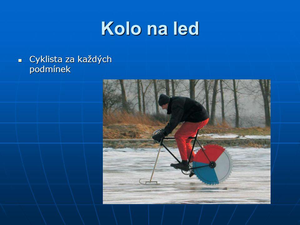 Kolo na led Cyklista za každých podmínek