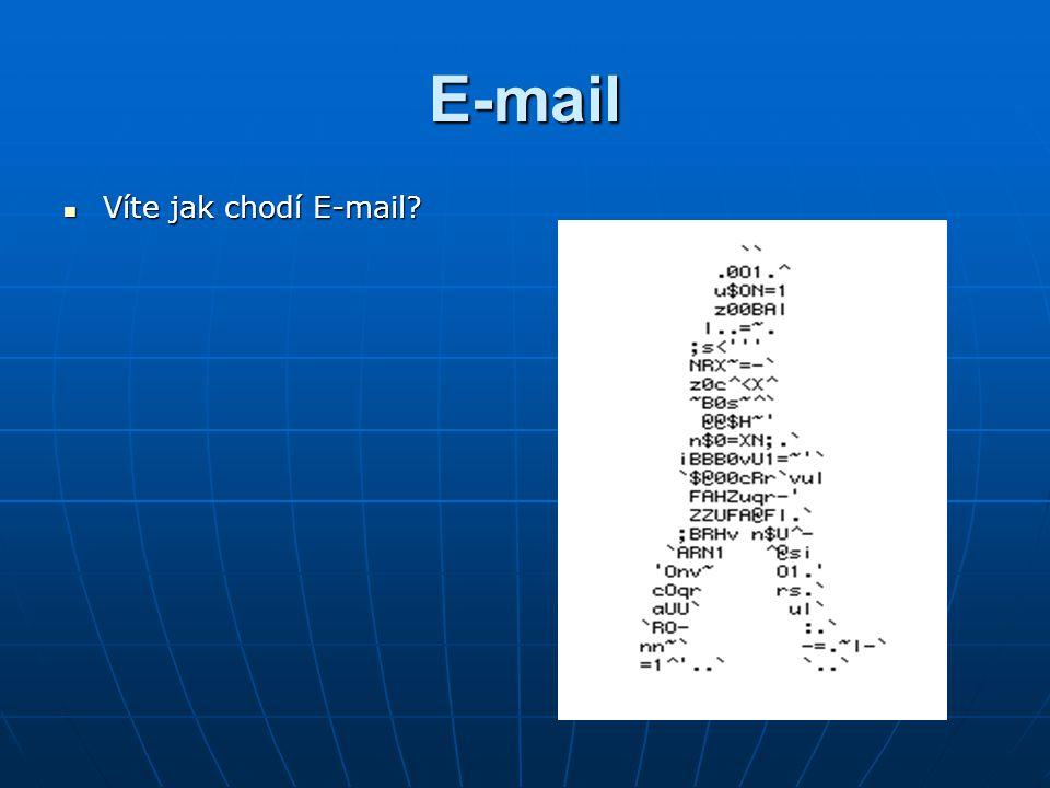 E-mail Víte jak chodí E-mail? Víte jak chodí E-mail?