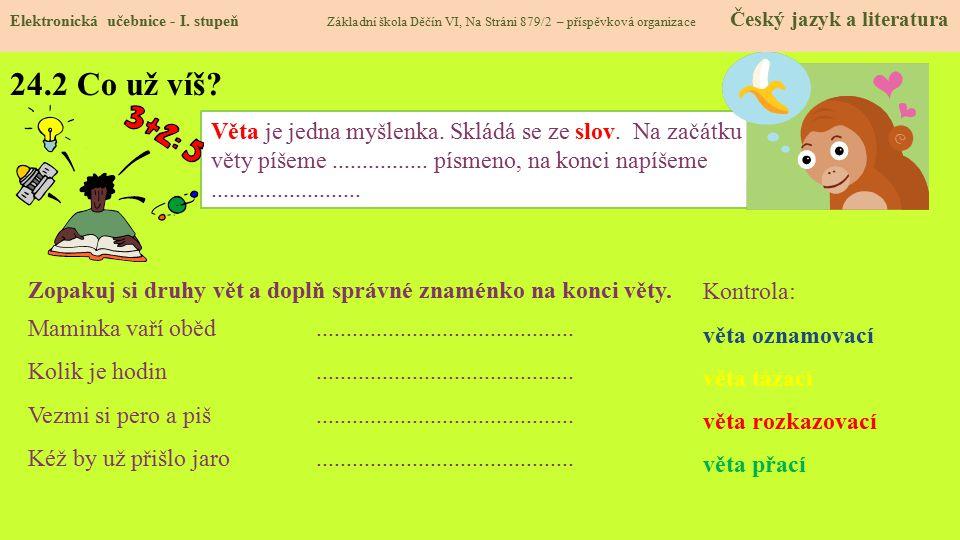 24.3 Jaké si řekneme nové termíny a názvy.Elektronická učebnice - I.