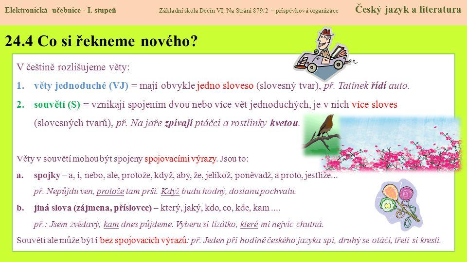 24.5 Procvičení a příklady Elektronická učebnice - I.