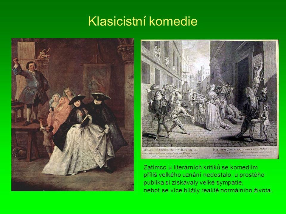 Ohlasy francouzského klasicismu Anglický dramatik a básník John Dryden (1631 - 1700).