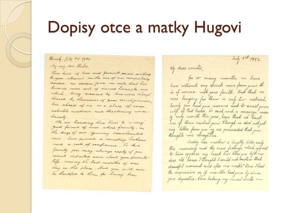 Dopisy otce a matky Hugovi