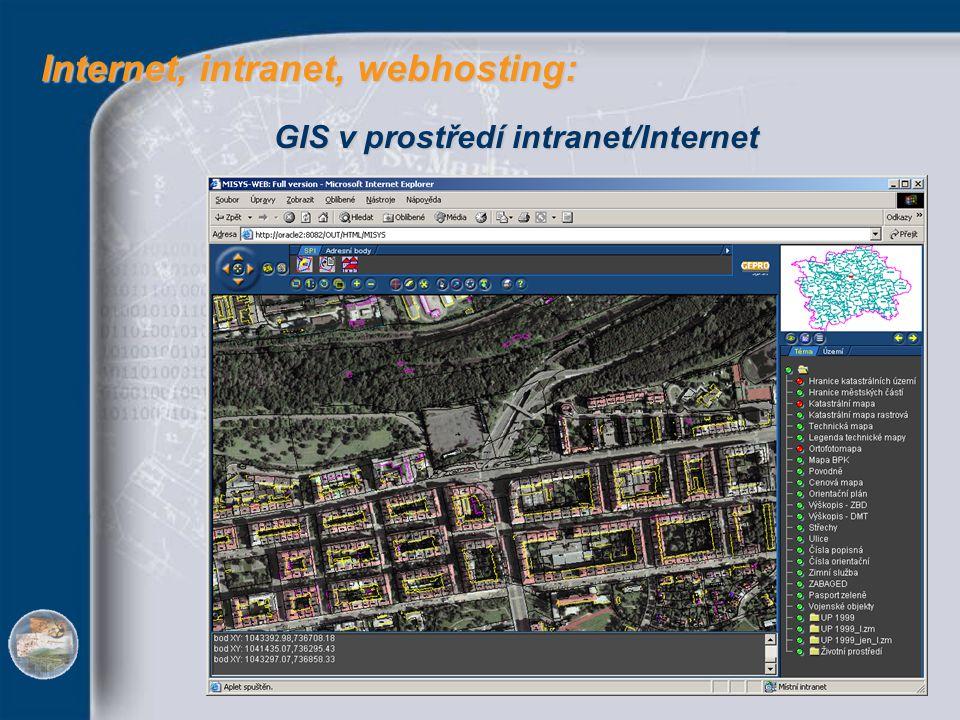 Internet, intranet, webhosting: Internet, intranet, webhosting: GIS v prostředí intranet/Internet
