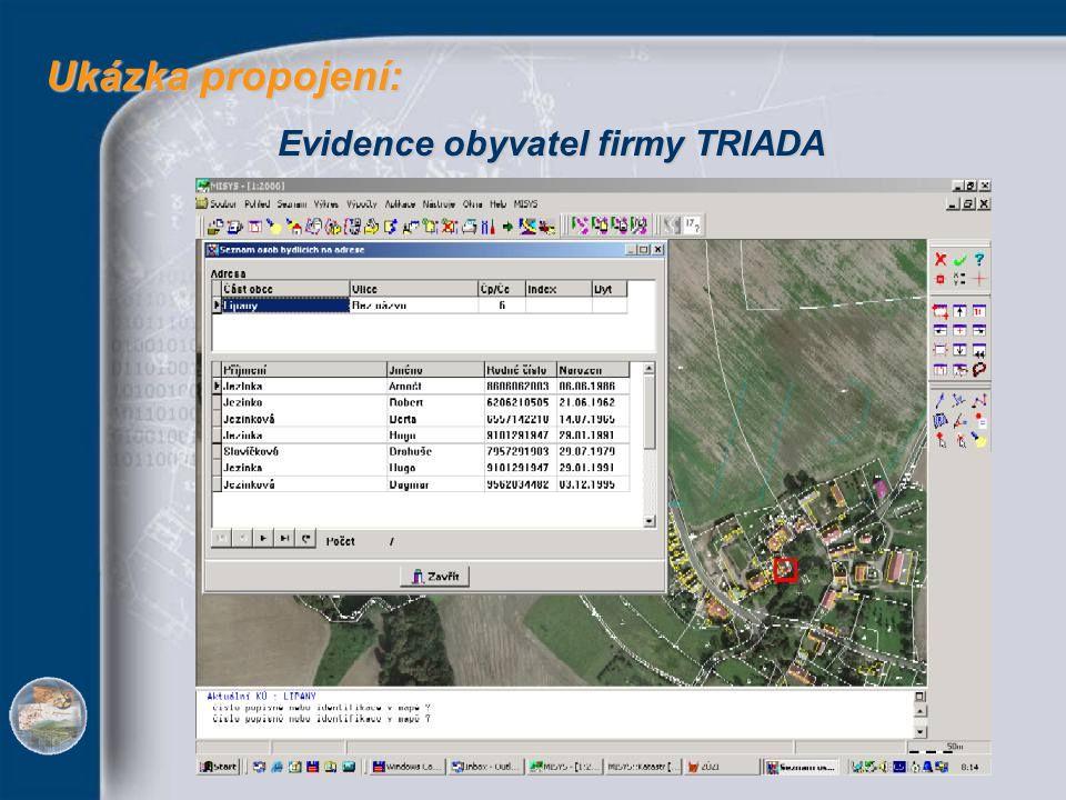Ukázka propojení: Ukázka propojení: Evidence obyvatel firmy TRIADA