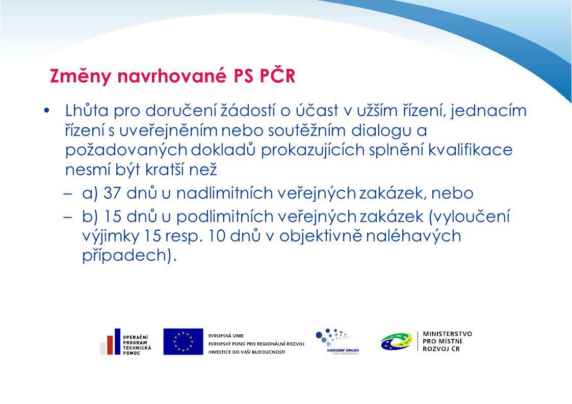 Lhůta pro doručení žádostí o účast v užším řízení, jednacím řízení s uveřejněním nebo soutěžním dialogu a požadovaných dokladů prokazujících splnění k