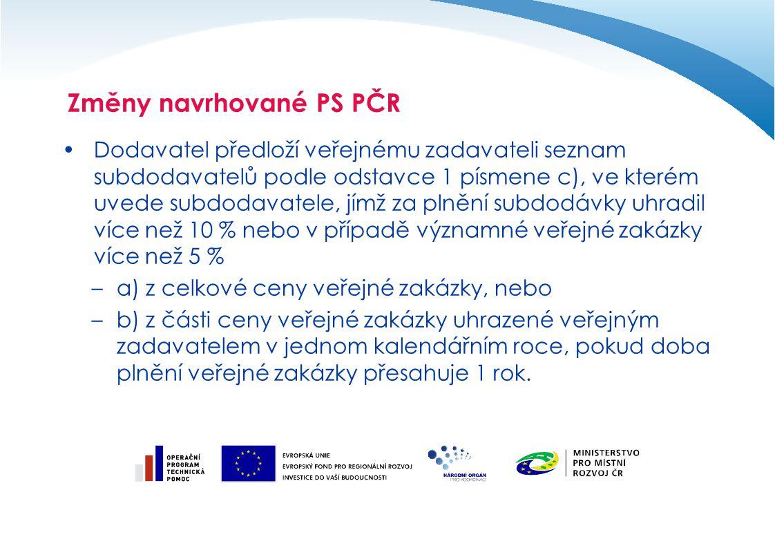Dodavatel předloží veřejnému zadavateli seznam subdodavatelů podle odstavce 1 písmene c), ve kterém uvede subdodavatele, jímž za plnění subdodávky uhr