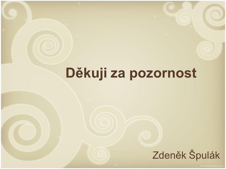 Děkuji za pozornost Zdeněk Špulák