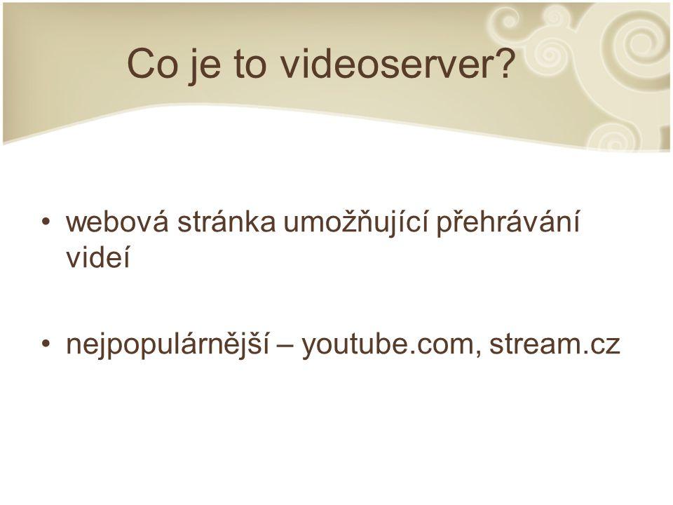 Cíle projektu vytvořit funkční videoserver konvertování videa na straně serveru přehrávání bez nutnosti stažení řazení do kategorií výběr kvality videa seřazení podle data, počtu zobrazení a hodnocení