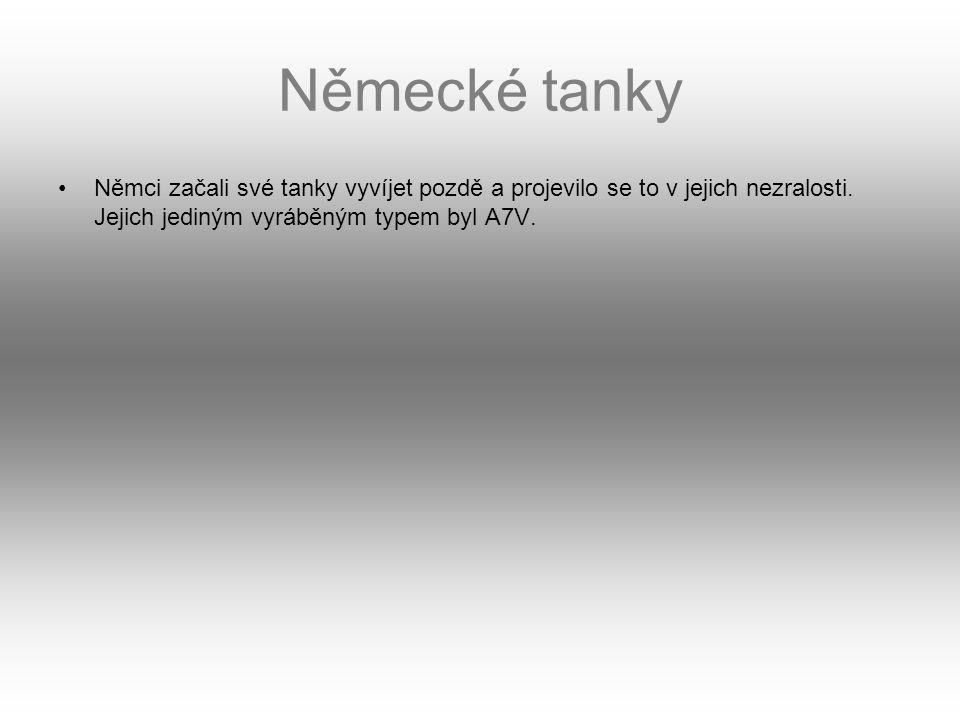 Bojové nasazení První masové nasazení tanků se odehrálo 20.