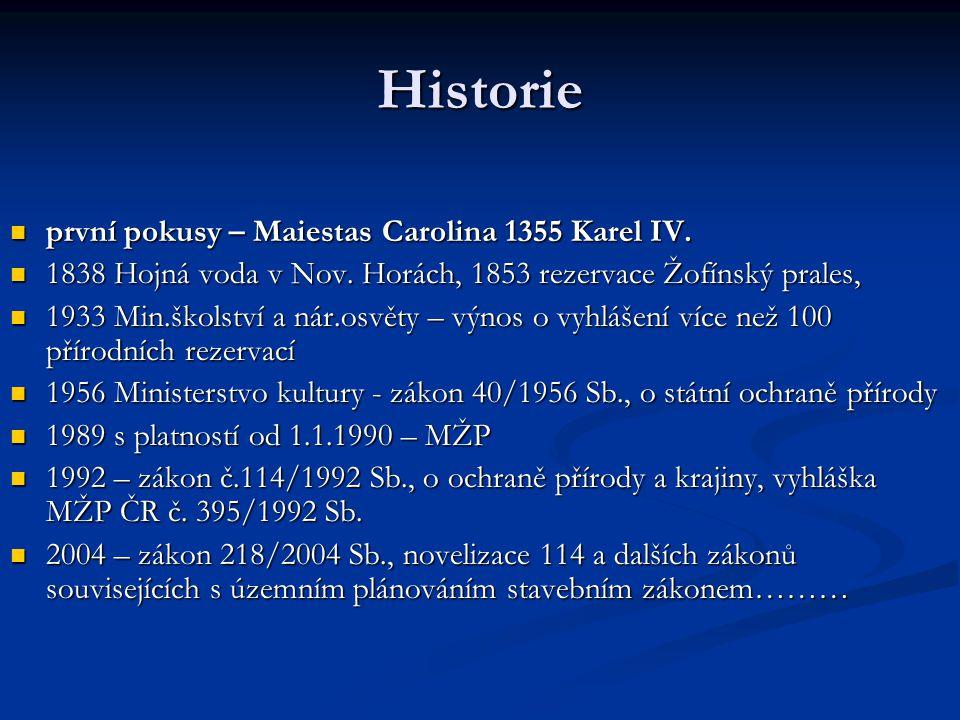 Historie první pokusy – Maiestas Carolina 1355 Karel IV.